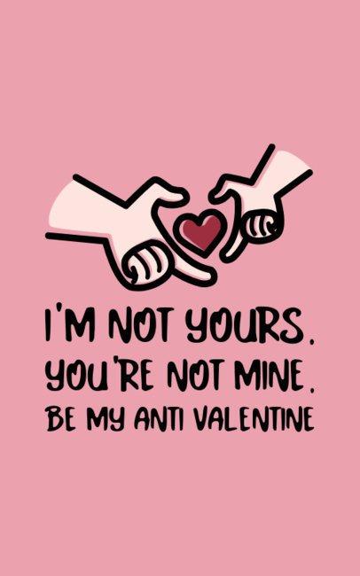 Funny Anti-Valentine's T-Shirt Design Generator For Single People 703b-el1