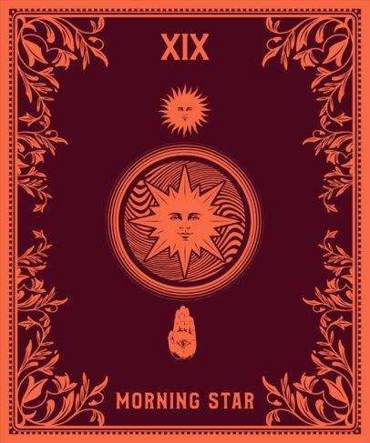 Tarot T-Shirt Design Generator Featuring the Sun Card 2196b