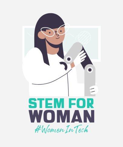 Women's Empowerment T-Shirt Design Creator Featuring an Engineer 2192a
