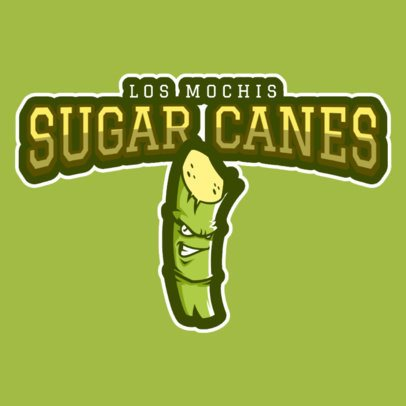 Sports Logo Maker Featuring a Sugarcane Clipart a484o-2930