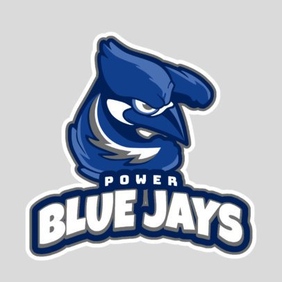 Sports Logo Generator Featuring a Blue Jay Illustration 1651k-2928