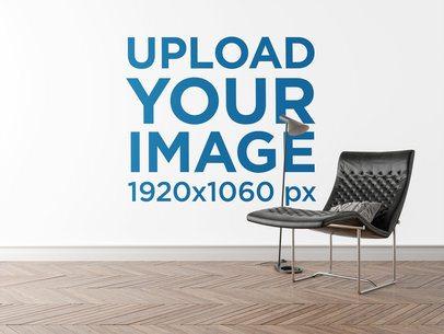 Mockup of an Art Print Wall Featuring Minimalistic Furniture 2707-el1