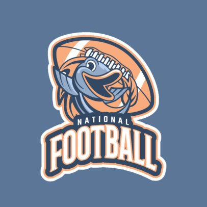 Football Logo Maker Featuring a Fish Graphic 245rr-2935