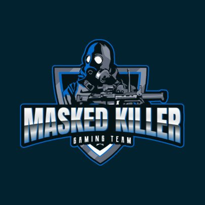 Gaming Logo Generator with a Masked Shooter Character 2734l-2927
