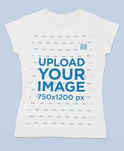 Mockup of a T-Shirt with a Pin Button 31878