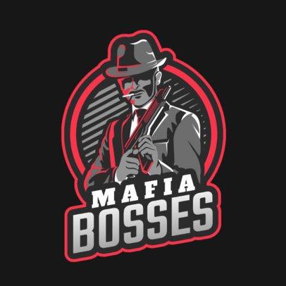 Gaming Logo Template Featuring a Mafia Boss 2637u-2926