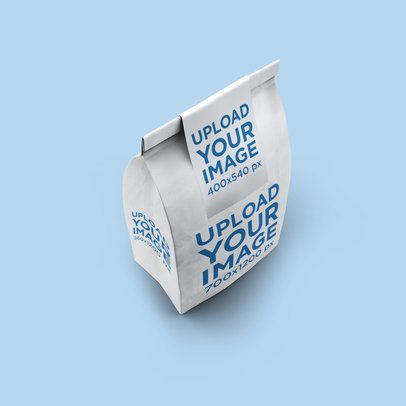 Paper Bag Mockup Featuring a Customizable Background 2585-el1