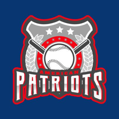 Baseball Logo Template Featuring a Cool Emblem 172ss-2931