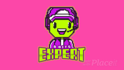 Animated 8 bit Logo Maker Featuring a Cute Character 1741i-2933
