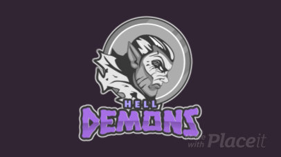 Gaming Logo Template Featuring an Animated Gargoyle Graphic 1741j-2935