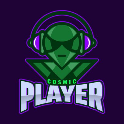 Gaming Logo Maker Featuring an Alien Illustration 1877p-2931
