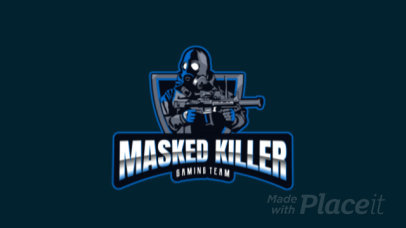 Gaming Logo Generator with an Animated Masked Shooter Character 2734l-2927