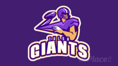 Animated Sports Logo Maker with a Dynamic Illustration of a Football Player 29z-2930