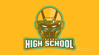 Animated Sports Logo Maker Featuring a Powerful Football Helmet 1748t-2930