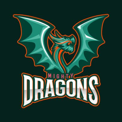 Gaming Logo Template Featuring a Winged Dragon Graphic 2689p-2936