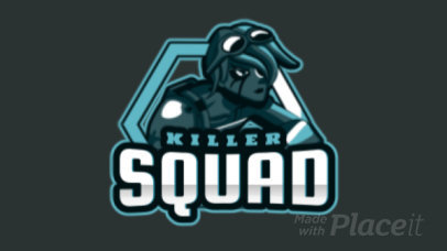 Animated Logo Template for a Gaming Squad Featuring a Female Mercenary Illustration 2449jj-2927
