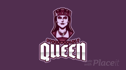 Animated Logo Creator for a Gaming Team Featuring a Dark Queen 1749r-2937