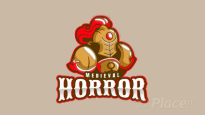 Medieval Logo Generator with an Animated Soldier Clipart 1877p-2932
