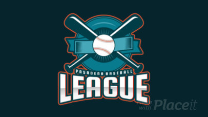 Animated Baseball Logo Creator with a Sports Emblem Graphic 172pp-2929
