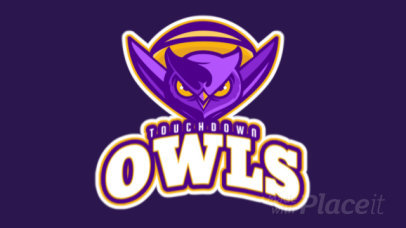 Football Team Animated Logo Maker with a Frightening Owl Mascot 245zz-2929
