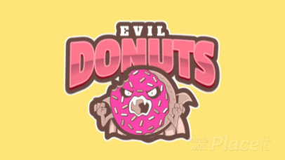 Animated Logo Template with an Evil Donut Clipart a484q-2926