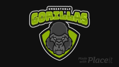 Animated Rugby Logo Creator with a Tough-Looking Gorilla 1619l-2929