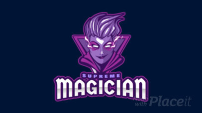 Animated Gaming Logo Maker with a Female Magician 1877v-2927