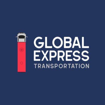 Transportation Logo Maker Featuring a Truck Seen From Above 749c-el1