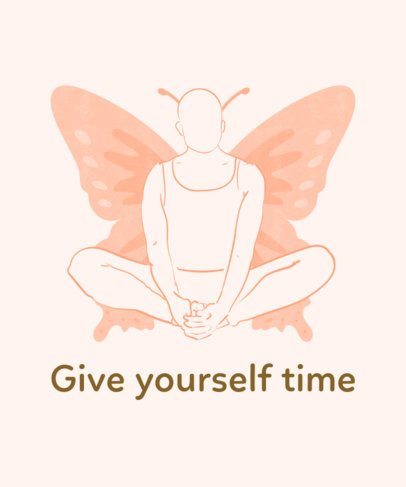 Yoga T-Shirt Design Maker Featuring a Woman in Butterfly Pose 2228b