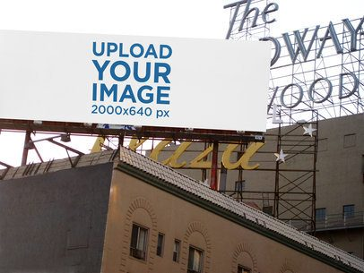 Mockup Featuring a Billboard Placed on a Roof 2741-el1