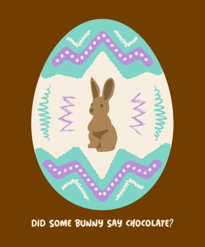 T-Shirt Design Creator with an Easter Bunny Illustration 2223b