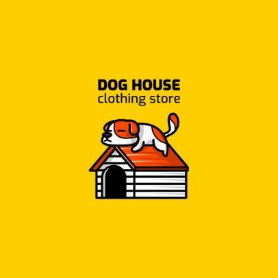 Illustrated Streetwear Logo Maker Featuring a Sleepy Puppy 264a-el1