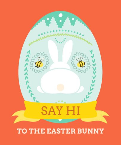 Easter T-Shirt Design Maker Featuring a Funny Bunny Graphic 2223f