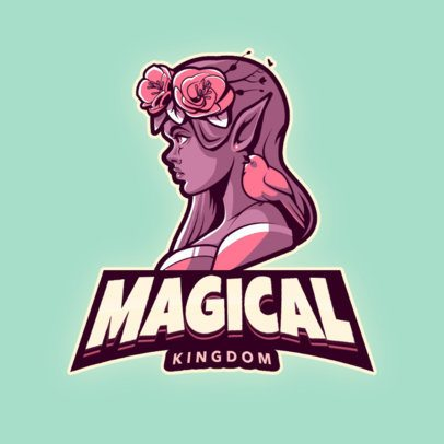 Logo Maker for a Gaming Squad with a Princess Character 2915i
