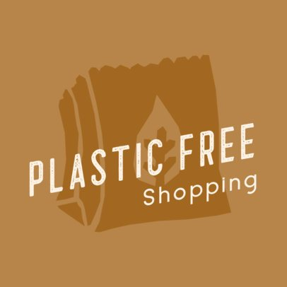 Online Logo Template for a Plastic-Free Shop 2924e