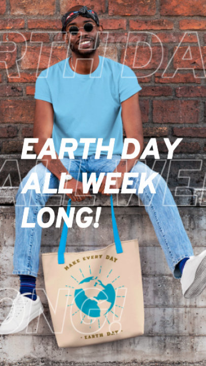Earth Day Instagram Story Video Maker for a Sale 1367c 1836