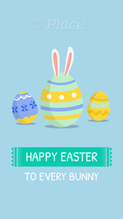 Instagram Story Video Maker Featuring Animated Easter Eggs Illustrations 1984