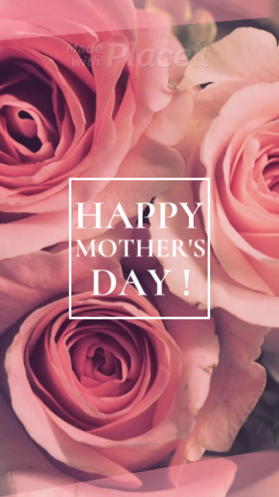 Mother's Day Instagram Story Video Maker Featuring Rapid Animations 1271d 1757