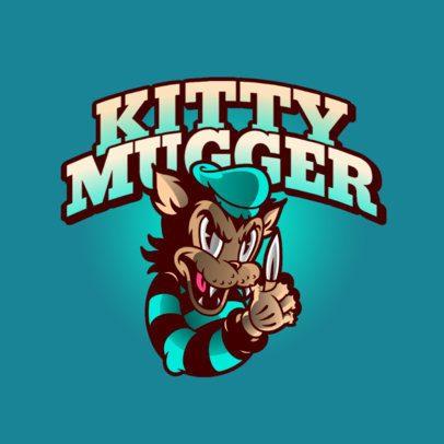Streetwear Logo Generator with a Mugger Wolf Cartoon Character 2956c