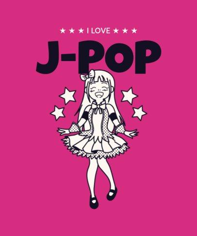 T-Shirt Design Maker with a J-Pop Female Singer 2283e