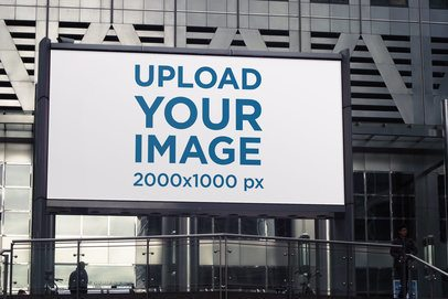 Mockup Featuring a Billboard Placed by a Modern Building 2867-el1