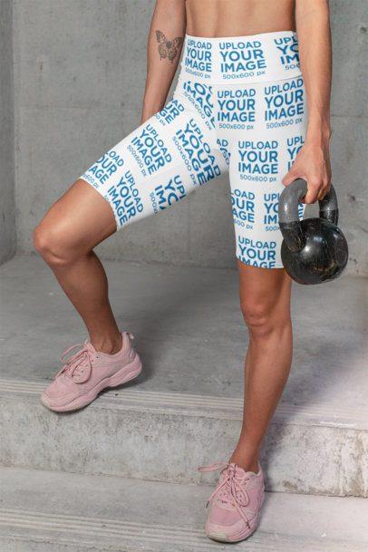 Mockup of a Woman High-Waisted Bike Shorts 31509