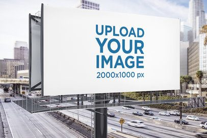 Mockup of a Billboard at a Busy Highway 2857-el1