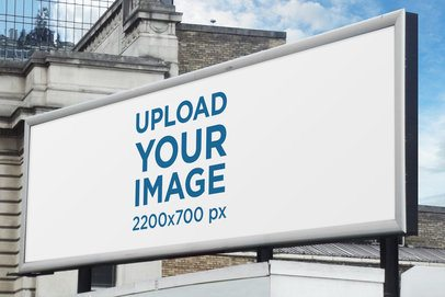 Mockup of a Billboard Placed on a Roof 2882-el1