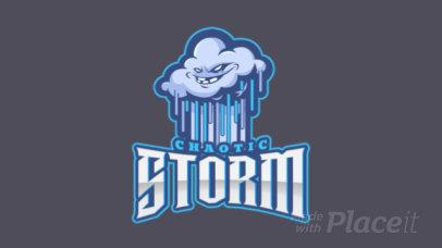 Online Logo Generator Featuring an Animated Stormy Cloud Cartoon 1750ii-2964