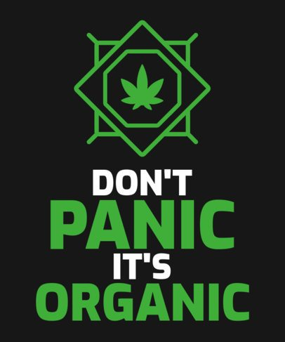 T-Shirt Design Generator with a Cannabis Culture Quote 2258b