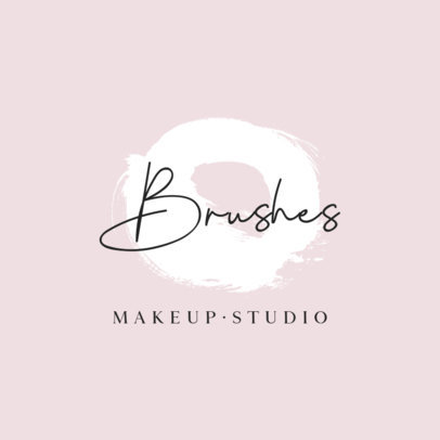 Logo Generator for a Makeup Studio with a Circular Brush Stroke Graphic 887C-el1