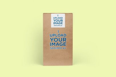 Paper Bag Mockup Featuring a Customizable Background 2613-el1
