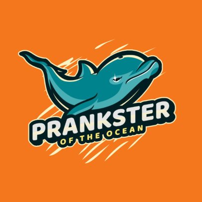 Logo Maker Featuring an Angry-Looking Dolphin 2975j