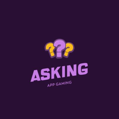 Mobile Gaming Business Logo Creator  with Question Mark Graphics 885b-el1